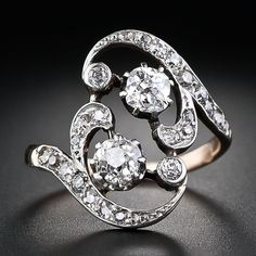 Victorian Gold Diamond Ring - 10-1-5276 - Lang Antiques