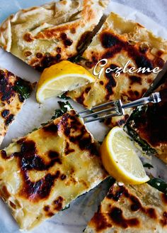 Spinach and feta -gozleme-recipe- this one will make Harv happy ;)