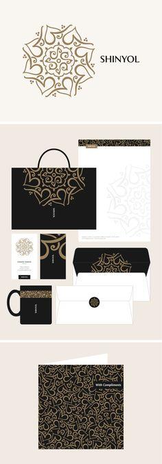 Arabesque style Arabic logo/identity design for an Abaya boutique in Qatar, by Khawar Bilal