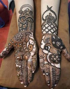 Hena traditional designs For Young Brides