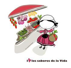 Los sabores de la Vida mercado de Gernika #EeeegunonMundo!!! By @muxotepotolobat Un dibumensaje cada día en @muxotepotolobat