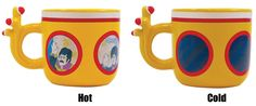 Add hot liquid to this Yellow Submarine shaped mug and watch members of The Beatles appear on the portholes.
