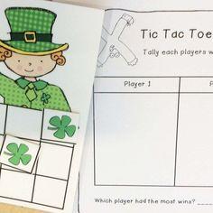 St. Patrick's Day Math - tic tac toe math