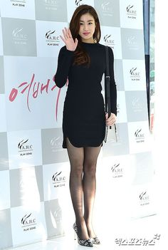 Kang So-ra looks sexy in black mini dress @ HanCinema :: The Korean Movie and… Kang Sora, Korean Model, Korean Lady, Pantyhose Outfits, Nylons, Black Stockings, Korean Actresses, Beautiful Asian Girls, Korean Beauty