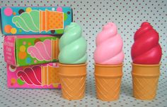 Avon Ice Cream Cone Lipgloss...  I had the pink & the green.  Can I be 8 years old again???