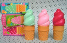 vintage avon, lip balm, memori, lip gloss, lips, lipgloss, pink, avon products, ice cream cones