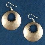 Monogrammed copper earrings!!