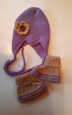 vauvan myssy (ohje novita) ja tossut (ohje kodin kuvalehti) - lanka novita wool (2015)