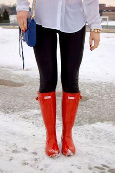 red hunter rain boots - Google Search