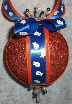 diy ornaments for the Denver broncos fanatic