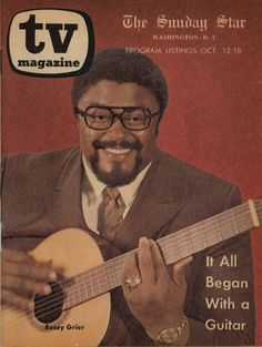 Rosey Grier with guitar