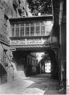 1931, Berlin, Wilhelmstraße, Hof mit Verbindungsbogen