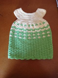 No pattern used. Going to add a bow to it Crochet Baby, Crochet Top, Baby Dress, Bows, Pattern, Crafts, Dresses, Design, Women