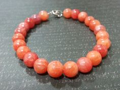 Ruby Quartzite Bracelet Ruby Bracelet by DCArtandPhotography