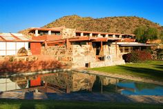 reflecting pond, Frank Lloyd Wright's Taliesin West, Scottsdale, Arizona