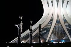 I traveled from Porto Seguro, where the first Portuguese landed, to Brasilia, city of the future. It was an intentional leap through time and circumstance that would prove vital in my quest to understand the Brazilian thing.  This is a photo of the cathedral by night in this complex and entrancing city that so captures the spirit of Brazil