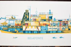 Alex Pearson - The Belafonte Poster - Wes Anderson Life Aquatic illustration - amazing