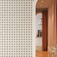 Line Pattern Removable Wallpaper, Cool Design Wall Cling, Artistic Peel and Stick, Modern Home Decor, Pretty Decorative Wall Mural Decal - Smooth Wall Decal / 1 roll: 24W x 108H