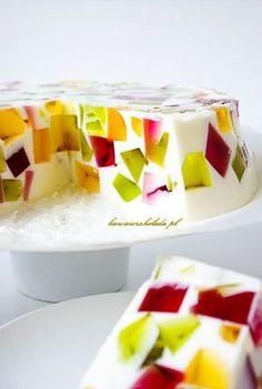 jogurtowiec galaretkowy (14) Sweets Cake, Cookie Desserts, No Bake Desserts, Lemon Cheesecake Recipes, Chocolate Cheesecake Recipes, Gateaux Cake, Polish Recipes, Healthy Dessert Recipes, Perfect Food
