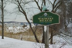 WAIKIKI BEACH in the snow on Winter Island in Historic Salem, Ma 5X7 Photo card 5x7 by aseyeseeitlal on Etsy