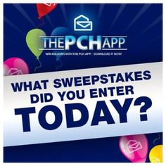 The PCH App provides fans with countless opportunities for fun and to win -- all for free.