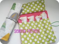 Tampon Roll and Wallet Sewing Pattern Tutorial by thesplitstitch, $6.00