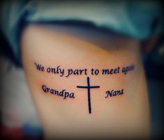 We only part to meet again  MoreWe Only Part To Meet Again Tattoo With Flowers