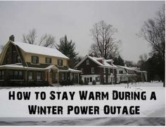 How to stay warm during a winter power outage. These tips could save your life, if not at least just your sanity.