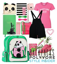 """""""Panda Backpack....Polyvore Style"""" by beleev ❤ liked on Polyvore featuring Pier 1 Imports, NIKE, Betsey Johnson, Smythson, Kate Spade, American Apparel, Fujifilm, Jane Iredale, OHTO and Rubbermaid"""