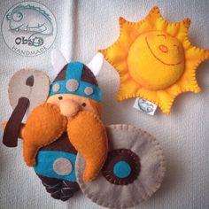 Oby's Handmade - Viking in felt for baby mobile: