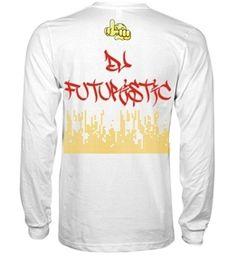 "Image of LMS ""DJ Futuristic"" Edition T-Shirt -White Long Sleeve"
