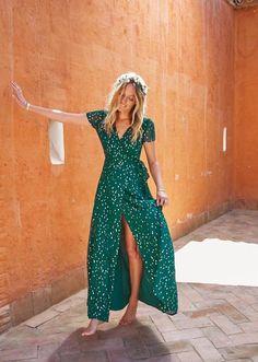 green dress by sezane