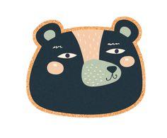 Mantel individual de corcho Bear, multicolor - 40x30 cm