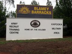 Blamey Barracks, at Kapooka just outside Wagga Wagga NSW, home of the soldier, first stop in a career in the Australian Army with 80 days basic training. Military Training, Armed Forces, Third, Army, Places, Military Workout, Special Forces, Gi Joe, Military