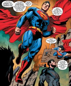 spoiledcomics: Theres nothing like a true superhero speech from Superman in his iconic blue costume with red underwear on the outside. (via Convergence Action Comics 1, Dc Comics Art, Hybrid Marvel, Superman Art, Superman Stuff, Batman, Blue Costumes, Under The Shadow, Lex Luthor