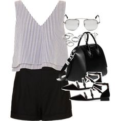 Outfit for work in summer by ferned on Polyvore featuring Apiece Apart, Topshop, Zara, Givenchy, Apt. 9, French Connection and Prada