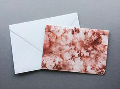 Dusty Red/Orange Abstract Watercolour - A6 Charity Greetings Cards