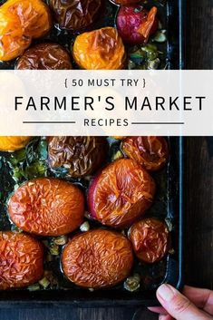 35 Must-Try Farmers Market Recipes highlighing delicious summer produce! Healthy, easy recipes including many vegan options!