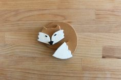 DIY Fox Brooch Tutorial with FREE Template