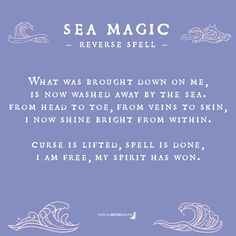 reversing magical recipes online curse magic with sea a Reversing a Curse with Sea Magic Magical Recipes OnlineYou can find Curses witchcraft and more on our website Curse Spells, Magick Spells, Wicca Witchcraft, Hoodoo Spells, Wiccan Witch, Water Witch, Sea Witch, Baby Witch, Was Ist Pinterest