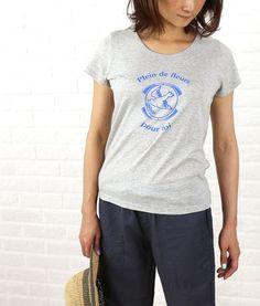 nimes et nimes(ニームエニーム) コットン レーヨン 半袖 プリント Tシャツ・TLC4406021  #nimesetnimes