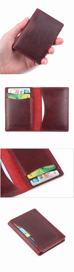 b35b6b6f7c8 2018 New Arrivals Credit ID Card Holder Vintage Design Crazy Horse Leather  Customized Business Men Women