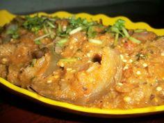 Brinjal Masala - Chef Damodaran Recipe