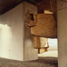 Bernard MURIGNEUX urban art: ''construction parasite'' - boulevard périphérique de Lyon - 1994-1997 - papier et colle
