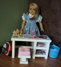 "Bedroom Desk for American Girl doll or other 18"" doll - MARCH SHIPPING. $70.00, via Etsy."
