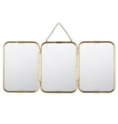 triple folding mirror