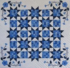 blue and white quilts | Linda's Blue & White Quilt