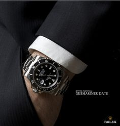 The power of seduction is strong with the Rolex Submariner in this vintage Rolex Magazine ad from the 90's.  #RolexMagazine | #Submariner | #Rolex | #Luxury