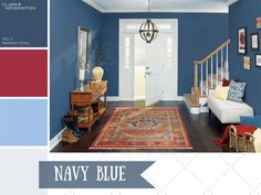 Navy blue is preppy, nautical and timeless. Learn how to decorate with this timeless color at HGTV.com.