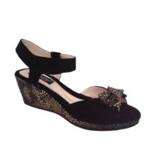 BEAUTIFEEL - RIVA - BLACK COBRA  #beautifeel #sandals #wedges